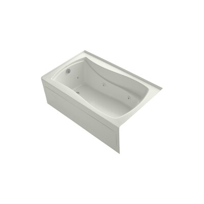 Mariposa 60 x 36 Alcove Whirlpool Finish: Dune, Drain Location: Left