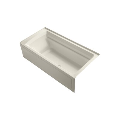 Archer 72 x 36 Air Bathtub Finish: Almond, Drain Location: Right