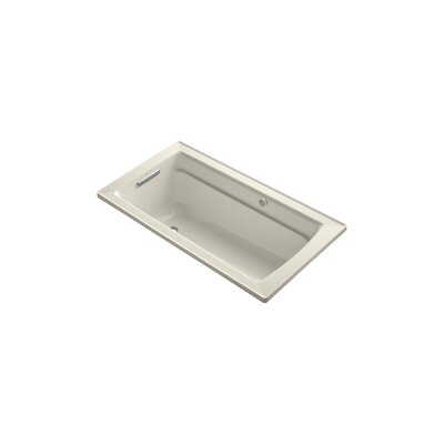 Archer 60 x 32 BubbleMassage Drop-in Bathtub Finish: Almond