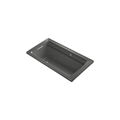 Archer 60 x 32 BubbleMassage Drop-in Bathtub Finish: Thunder Grey
