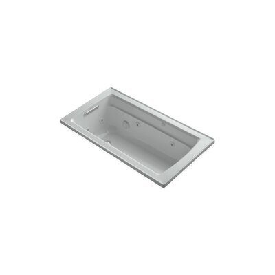 Archer 60 x 32 Drop-in Whirlpool Finish: Ice Grey