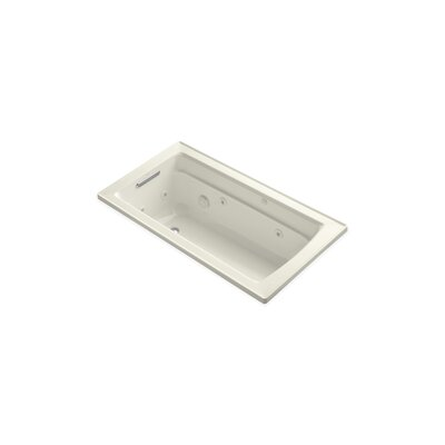 Archer 60 x 32 Drop-in Whirlpool Finish: Biscuit