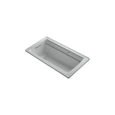 Archer 60 x 32 BubbleMassage Drop-in Bathtub Finish: Ice Grey