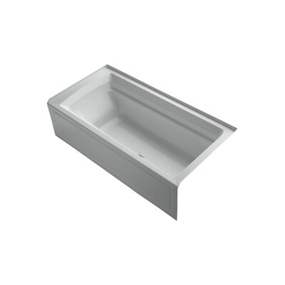 Archer 72 x 36 Air Bathtub Finish: Ice Grey, Drain Location: Right