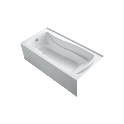 Mariposa 72 x 36 Alcove BubbleMassage Air Bathtub Finish: White, Drain Location: Left