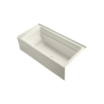 Archer 72 x 36 Air Bathtub Finish: Biscuit, Drain Location: Right