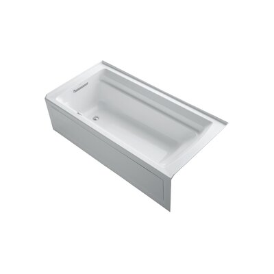 Archer 72 x 36 Air Bathtub Finish: White, Drain Location: Left