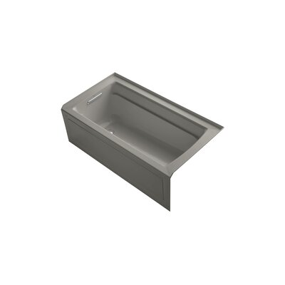 Archer 60 x 32 Air Bathtub Finish: Cashmere, Drain Location: Left
