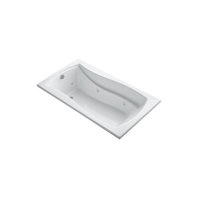 Mariposa 66 x 35.88 Drop-in Whirlpool Finish: White