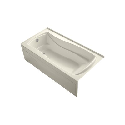 Mariposa 72 x 36 Alcove BubbleMassage Air Bathtub Finish: White, Drain Location: Right