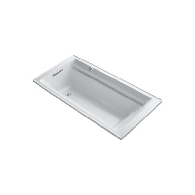 Archer 72 x 36 Drop-in Bubble massage Air Bathtub with Reversible Drain and Bask Heated Surface Finish: White