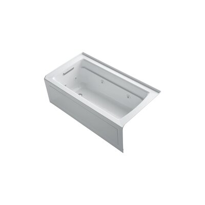 Archer 60 x 32 Alcove Whirlpool Finish: White, Drain Location: Left