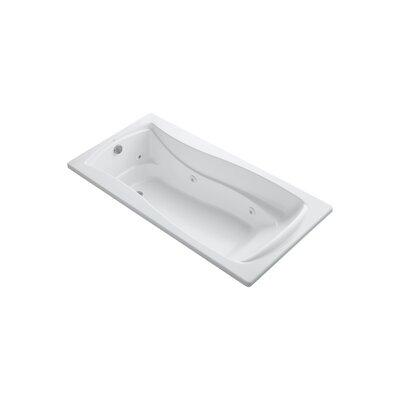 Mariposa 72 x 36 Whirpool Bathtub Finish: White