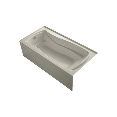 Mariposa 72 x 36 Alcove BubbleMassage Air Bathtub Finish: Sandbar, Drain Location: Left