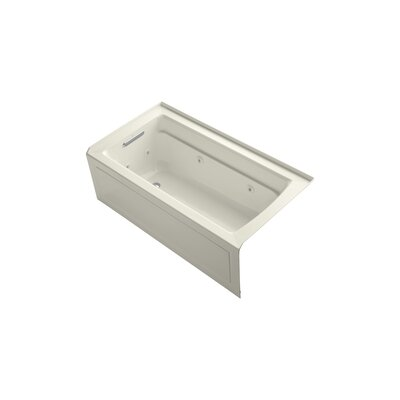 Archer 60 x 32 Alcove Whirlpool Finish: Biscuit, Drain Location: Left