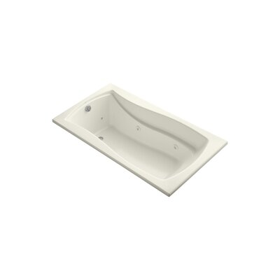 Mariposa 66 x 35.88 Drop-in Whirlpool Finish: Biscuit