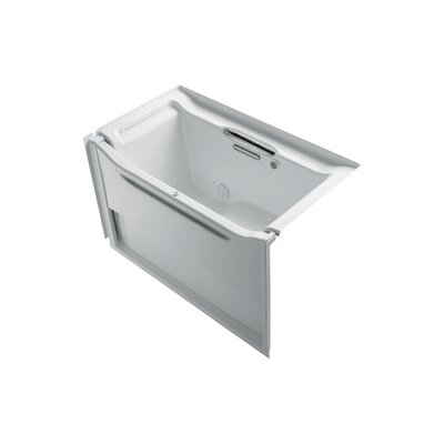 Elevance 60.25 x 39.25 Rising Wall Alcove BubbleMassage Air Bathtub Drain Location: Left
