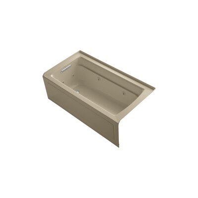 Archer 60 x 32 Alcove Whirlpool Finish: Mexican Sand, Drain Location: Left