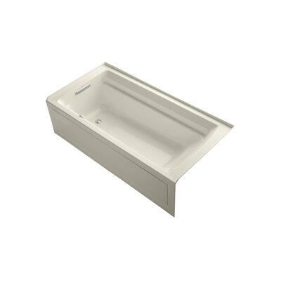 Archer 72 x 36 Air Bathtub Finish: Almond, Drain Location: Left