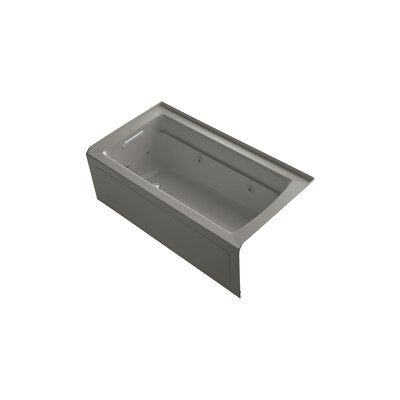 Archer 60 x 32 Alcove Whirlpool Finish: Cashmere, Drain Location: Left