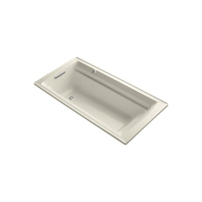 Archer 72 x 36 Drop-in Bubble massage Air Bathtub with Reversible Drain and Bask Heated Surface Finish: Almond