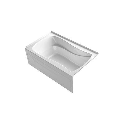 Mariposa Bubblemassage 60 x 36 Soaking Bathtub Finish: White, Drain Location: Right