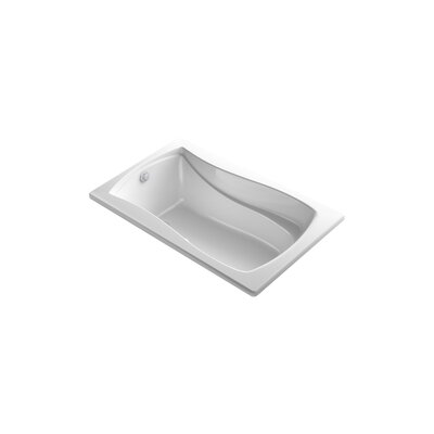 Mariposa Bubblemassage 60 x 36 Soaking Bathtub Finish: White