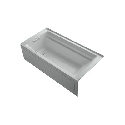 Archer 72 x 36 Air Bathtub Finish: Ice Grey, Drain Location: Left