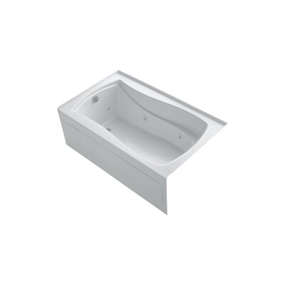 Mariposa 60 x 36 Alcove Whirlpool Finish: White, Drain Location: Left