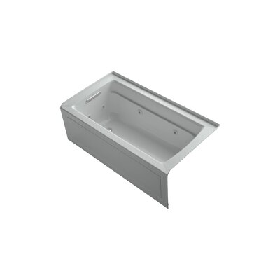 Archer 60 x 32 Alcove Whirlpool Finish: Ice Grey, Drain Location: Left