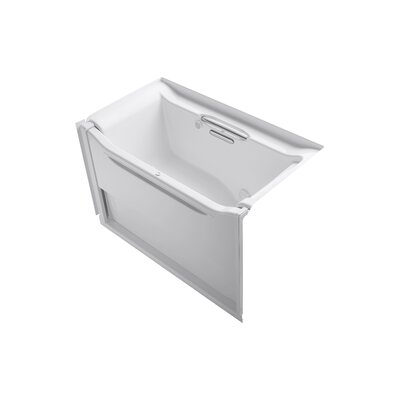 Elevance 60.25 x 39.25 Rising Wall Alcove BubbleMassage Air Bathtub Drain Location: Right