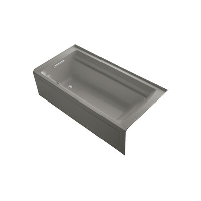 Archer 72 x 36 Air Bathtub Finish: Cashmere, Drain Location: Left