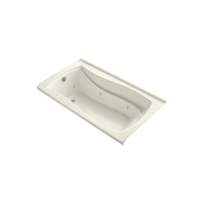 Mariposa 66 x 36 Alcove Whirlpool Finish: Biscuit, Drain Location: Left