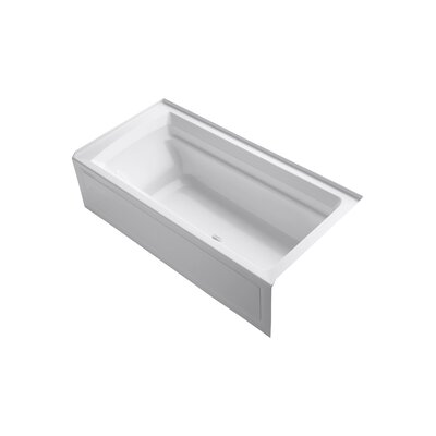 Archer 72 x 36 Air Bathtub Finish: White, Drain Location: Right