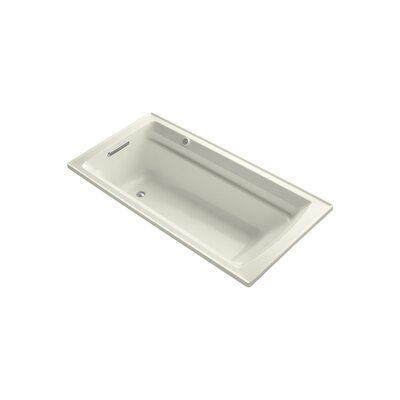 Archer 72 x 36 Drop-in Bubble massage Air Bathtub with Reversible Drain and Bask Heated Surface Finish: Biscuit