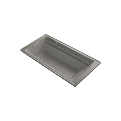 Archer 72 x 36 Drop-in Bubble massage Air Bathtub with Reversible Drain and Bask Heated Surface Finish: Cashmere
