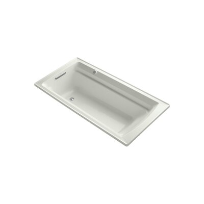 Archer 72 x 36 Drop-in Bubble massage Air Bathtub with Reversible Drain and Bask Heated Surface Finish: Dune