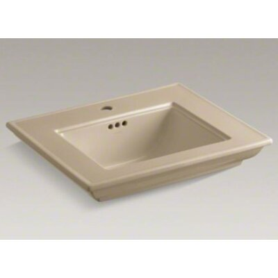 Memoirs Stately 25 Pedestal Bathroom Sink Finish: Mexican Sand, Faucet Hole Style: 8 Widespread