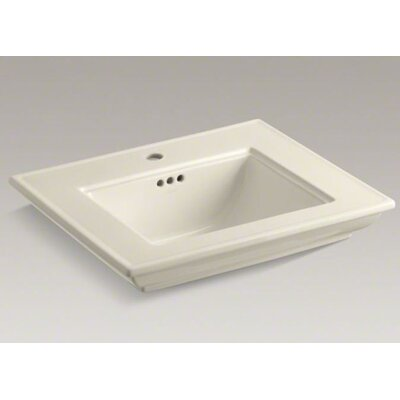 Memoirs Stately 25 Pedestal Bathroom Sink Finish: Almond, Faucet Hole Style: 8 Widespread