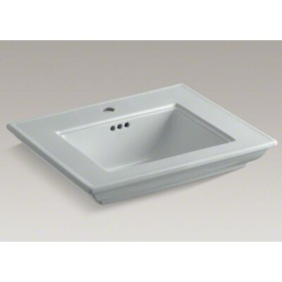 Memoirs Stately 25 Pedestal Bathroom Sink Finish: Ice Grey, Faucet Hole Style: 8 Widespread