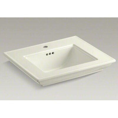 Memoirs Stately 25 Pedestal Bathroom Sink Finish: Biscuit, Faucet Hole Style: 4Centerset