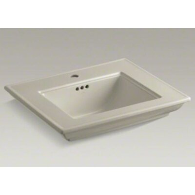 Memoirs� Ceramic 25 Pedestal Bathroom Sink with Overflow Finish: Sandbar, Faucet Hole Style: 8 Widespread