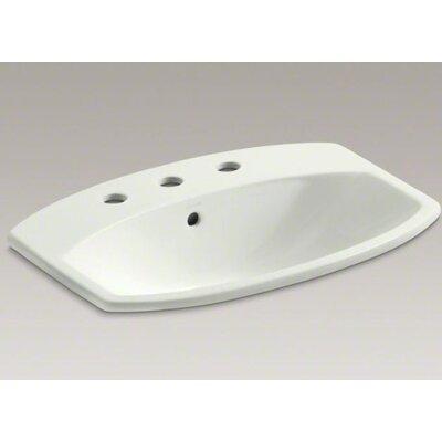 Cimarron� Ceramic Rectangular Drop-In Bathroom Sink with Overflow Finish: Dune