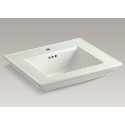Memoirs� Ceramic 25 Pedestal Bathroom Sink with Overflow Finish: Dune, Faucet Hole Style: 4Centerset