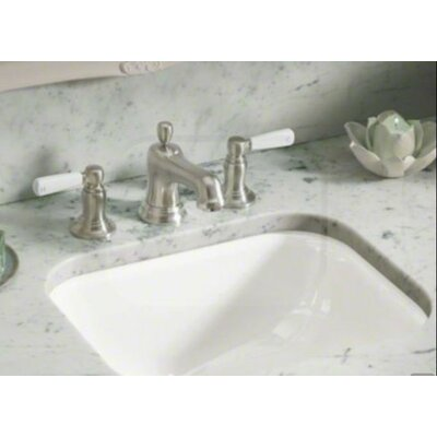 Tahoe Metal Rectangular Undermount Bathroom Sink with Overflow Finish: White