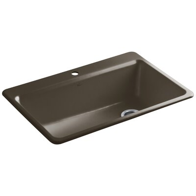 Riverby 33 x 22 x 9-5/8 Top-Mount Single-Bowl Kitchen Sink with Accessories Finish: Suede