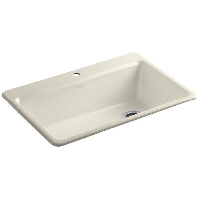 """Riverby 33"""" x 22"""" x 9-5/8"""" Top-Mount Single-Bowl Kitchen Sink with Accessories K-5871-1A2-0"""