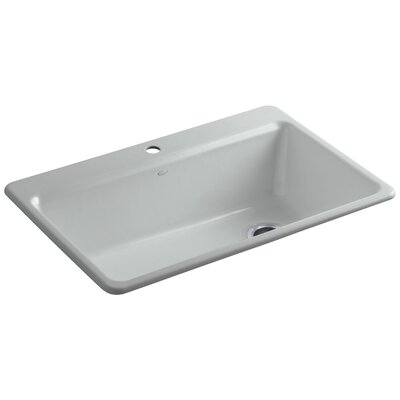 Riverby 33 x 22 x 9-5/8 Top-Mount Single-Bowl Kitchen Sink with Accessories Finish: Ice Grey