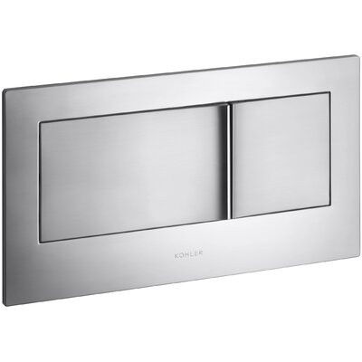 Flush Actuator Plate In-Wall Tank and Carrier System Finish: Brushed Chrome
