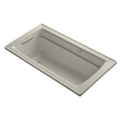 Archer Bubblemassage 60 x 32 Soaking Bathtub Sink Finish: Sandbar